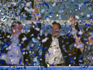 Mariano Rajoy celebra el triunfo.