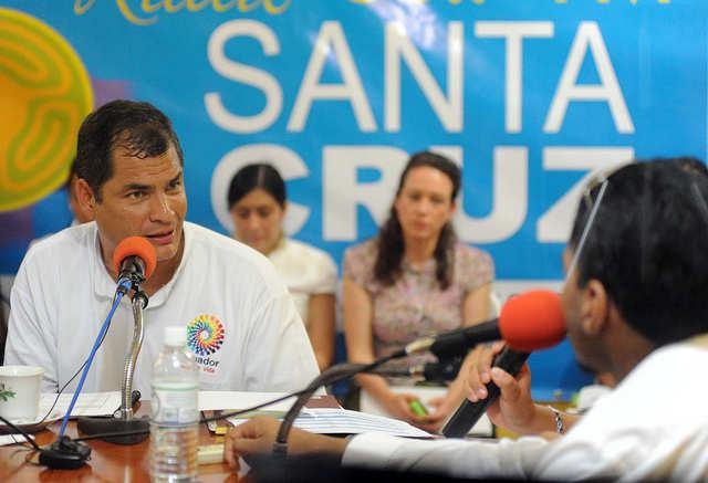 El presidente Rafael Correa en Galápagos. Foto de archivo