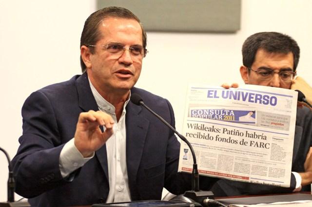 PATIÑO HABLA SOBRE ARCHIVOS WIKILEAKS EN SU CONTRA