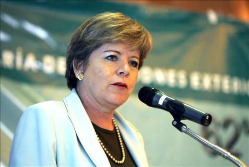 Alicia Bárcena, titular de la Cepal. Foto de Archivo, La República.