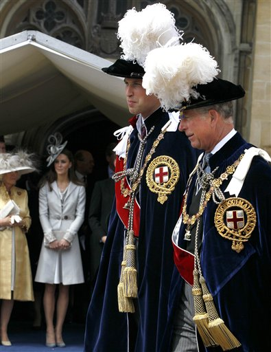 Duchess of Cornwall, Duchess of Cambridge,  Prince Charles, Prince William