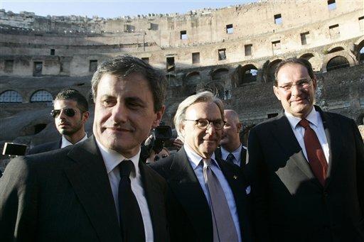 Gianni Alemanno, Diego Della Valle, Giancarlo Galan