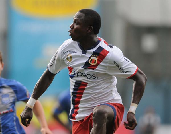 Foto de archivo. Isaac Mina, jugador del Deportivo Quito. Foto API.