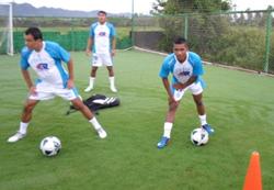 Guerrero durante el entrenamiento.