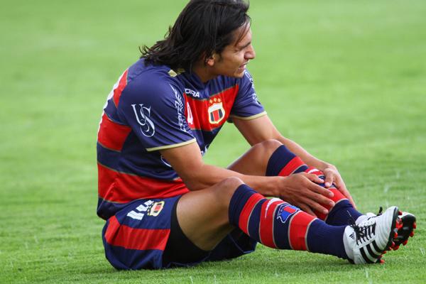 Foto de archivo. Luis Saritrama vistiendo la camiseta del Deportivo Quito. Foto API.