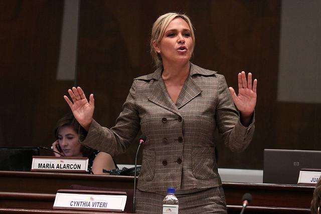 Cynthia Viteri, asambleísta por la provincia de Guayas. Foto de Archivo.