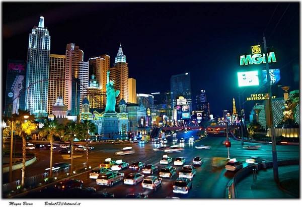 Las Vegas de noche.