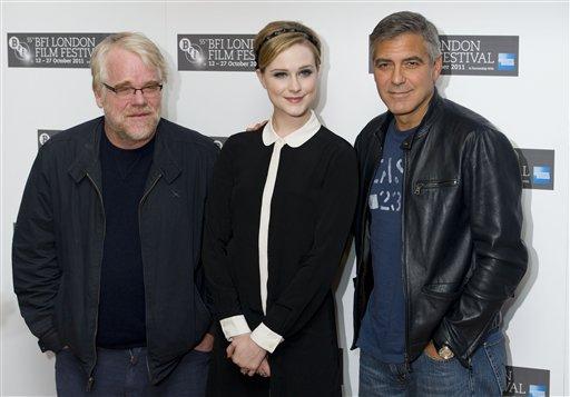 Philip Seymour Hoffman, Evan Rachel Wood, George Clooney