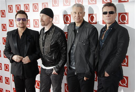 The Edge, Bono, Adam Clayton, Larry Mullen,