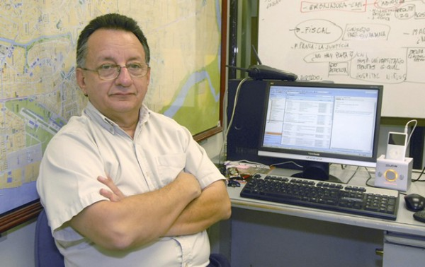 Undated handout photo of Ecuadorean journalist Emilio Palacio