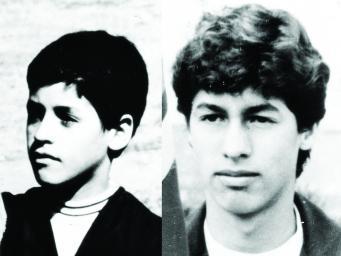 Los hermanos Santiago y Andrés Restrepo, desaparecidos en 1988.