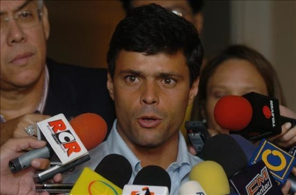 Leopoldo López, cuando fue precandidato presidencial en 2012.