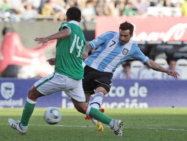 Ezequiel Lavezzi ingresó al campo de juego y en el mismo minuto anotó el gol del empate.
