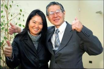 Keiko y Alberto Fujimori. Foto de Archivo, La República.