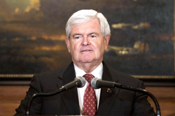Republican presidential candidate Newt Gingrich speaks during a news conference at the Union League Club on East 37th Street in New York December 5, 2011. REUTERS/Andrew Burton (UNITED STATES - Tags: POLITICS ELECTIONS)