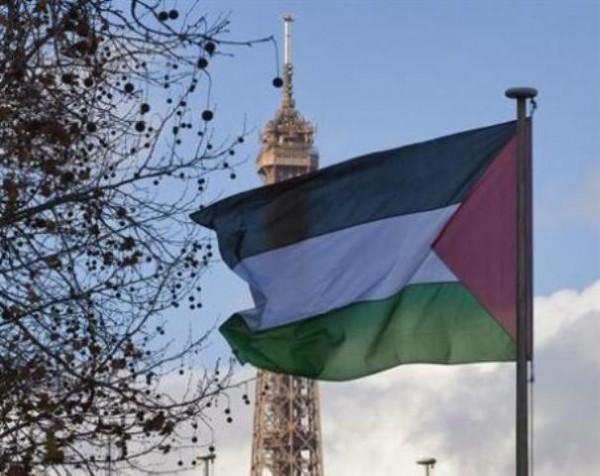 Bandera de Palestina junto a Edificio de la UNESCO en París. Foto de Archivo, La República.