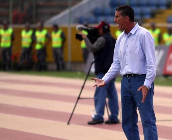 Foto de archivo. Bauza cuando dirigía a Liga de Quito.