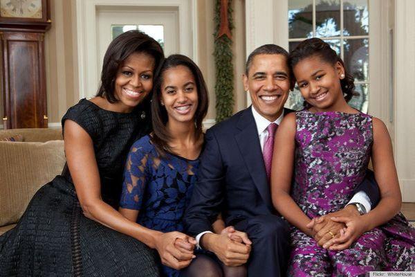 foto navideña Obama