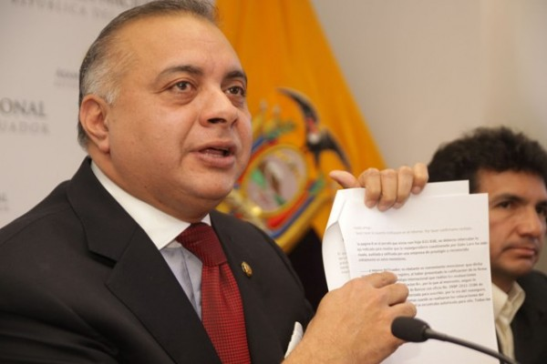 GALO LARA DENUNCIA IRREGULARIDADES EN PROCEDER DE LA FISCALIA