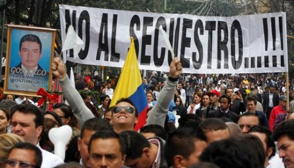 COLOMBIA-MARCHAS SECUESTRADOS
