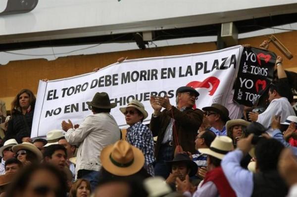 protesta por los toros