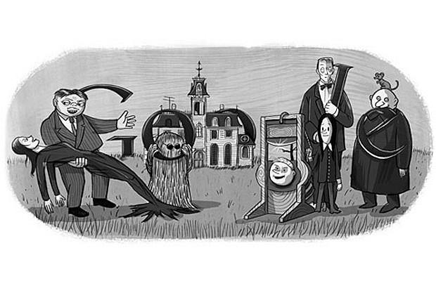 Doodle Familia Adams