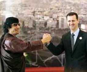 Gadafi y Al Asad