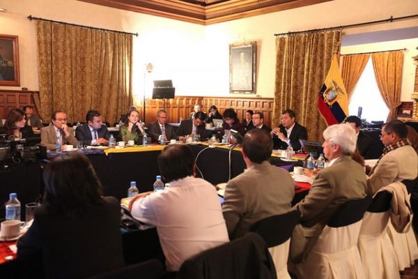 Sesión del gabinete ministerial