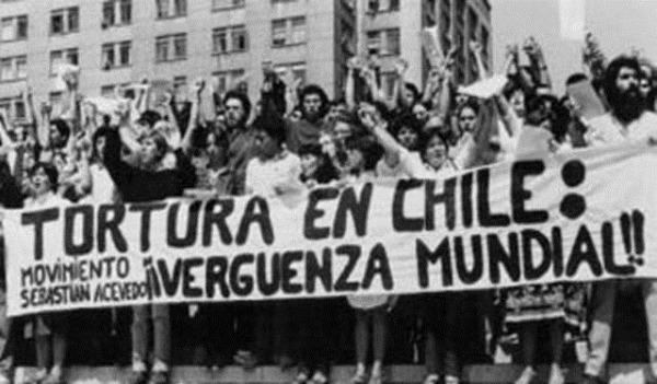 Protesta en Chile por los Derechos Humanos. Foto de Archivo, La República.