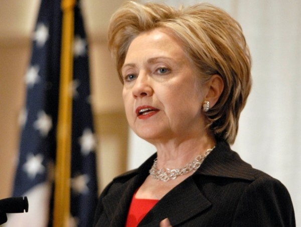 ORG XMIT: NYTR102 Sen. Hillary Rodham Clinton, D-N.Y., speaks at a New York Public Transit Association conference in Albany on Friday, Nov. 14, 2008.   Clinton said she would not comment on speculation that she may be selected to become President-elect Barack Obama's secretary of state..