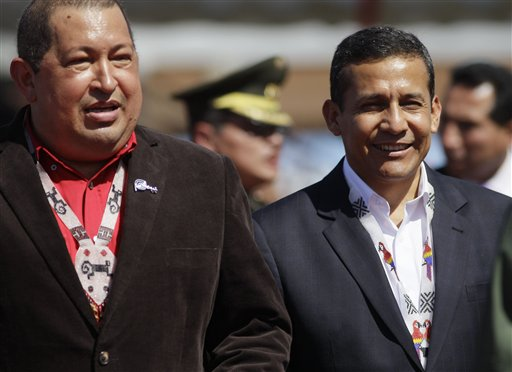 Ollanta Humala, Hugo Chavez