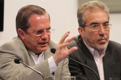 El Canciller Ricardo Patiño defiende la visita de Ahmadineyad.