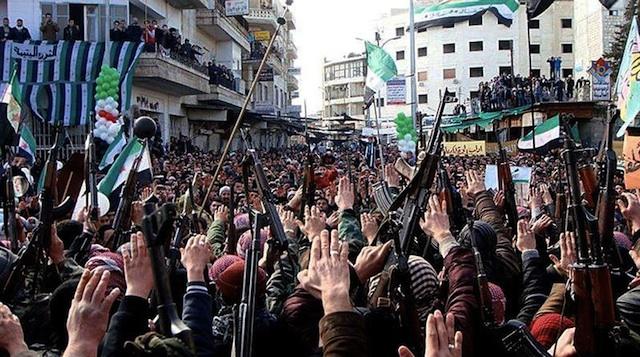 Protestas en Siria contra Bashar el Assad.