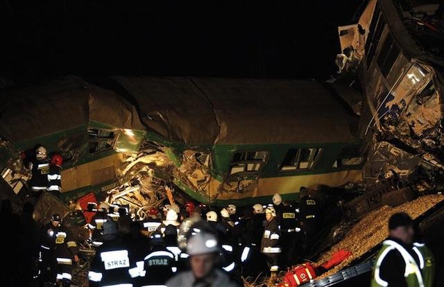 Choque de trenes Polonia