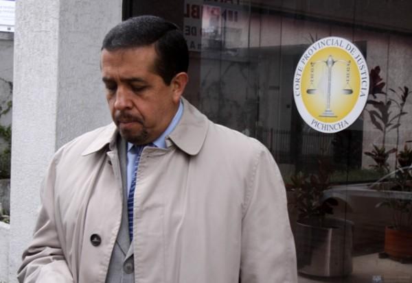 Fidel Araujo en la Corte Provincial de Justicia de Pichincha. Foto de archivo