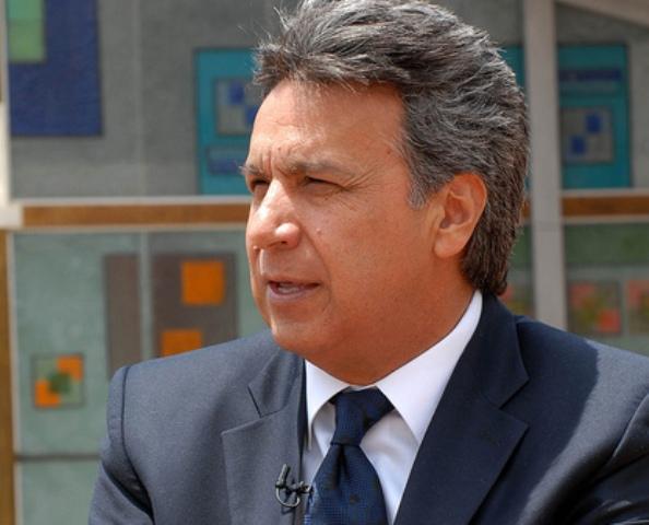 Quito, 18 febrero 2011.- El Vicepresidente de la República, Lenin Moreno, dialogo con Marco Antonio Bravo en una entrevista para El Ciudadano TV. Foto: Presidencia de la República.