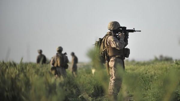 Foto de archivo de soldados estadounidenses