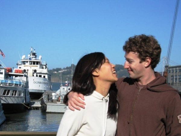 Mark Zuckerberg, y su pareja. Foto de Archivo, La República.