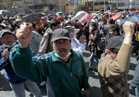 Protestas en Bolivia. Foto de Archivo, La República.