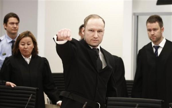 El noruego Anders Behring Breivik, en foto de mayo de 2012. AP