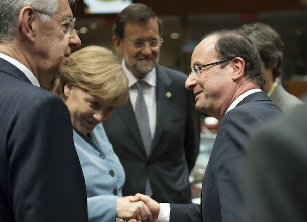Angela Merkel y Francois Hollande  (AP Photo/Carolyn Kaster)