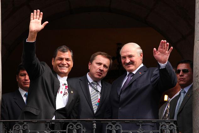 El Presidente Lukashenko, de Bielorrusia, de visita en Quito.