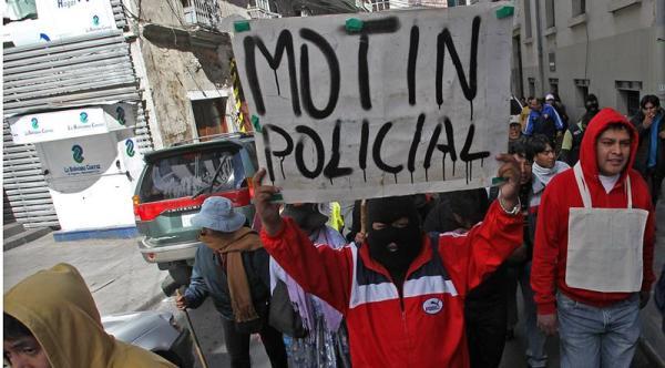 bolivia motín policial
