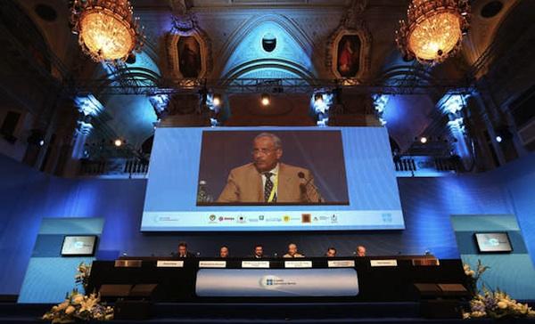 Reunión de la OPEP, en Viena, en 2012. Foto de archivo. AP