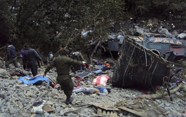 BOLIVIA-AUTOBUS ACCIDENTE