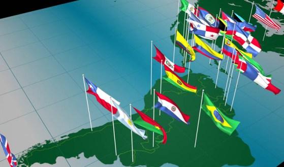 Banderas de los países de América Latina. Foto de Archivo, La República.