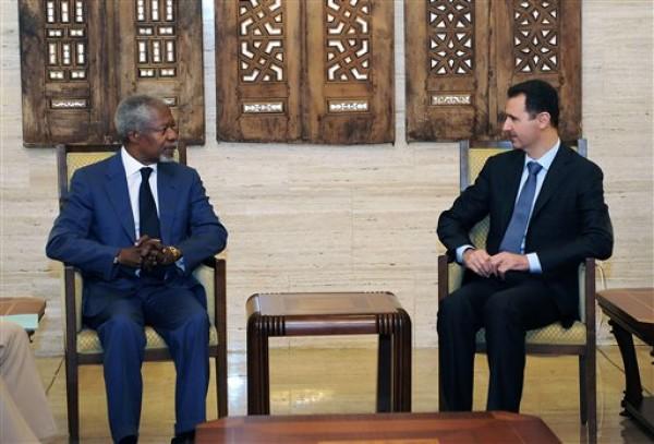 Bashar Assad, Kofi Anan