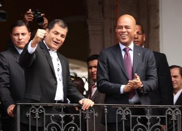 El presidente de Haití, Michel Martelly visita Ecuador