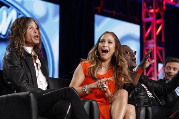 Jennifer Lopez, Steven Tyler, Randy Jackson, Ryan Seacrest