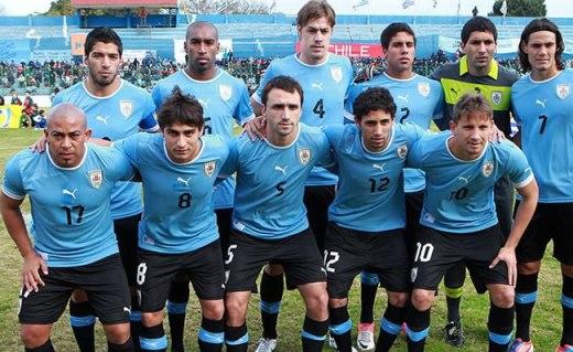 Foto de archivo de la selección uruguaya de fútbol. Foto AP.